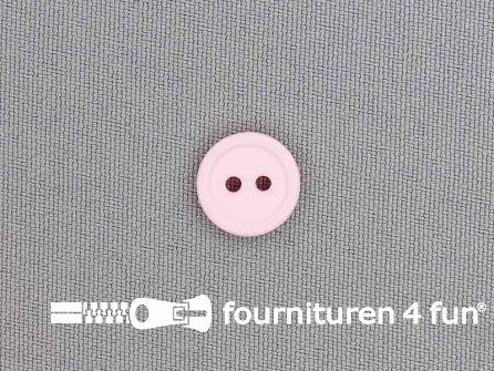 Kunststof knoop 13mm roze