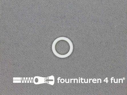 10 Stuks kunststof ring 8mm wit