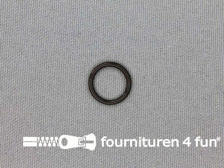 10 Stuks kunststof ring 10mm donker bruin