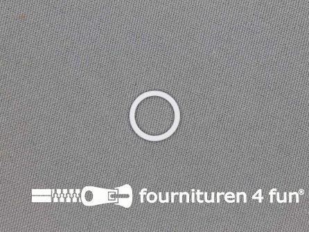 10 Stuks metalen ring 10mm wit