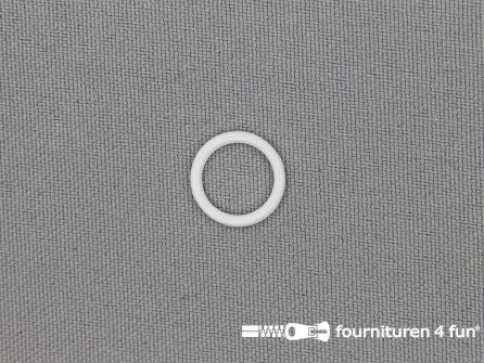 10 Stuks kunststof ring 10mm wit