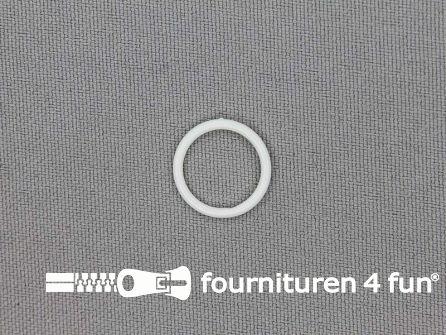 10 Stuks kunststof ring 12mm wit
