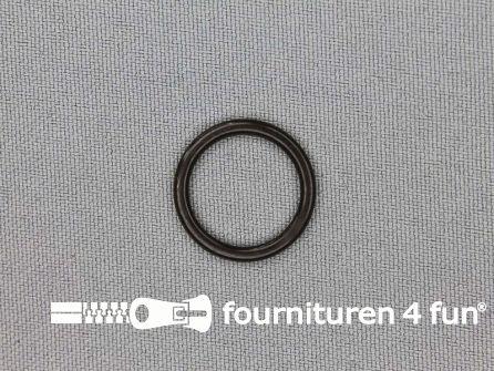 10 Stuks kunststof ring 15mm donker bruin