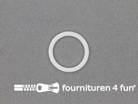 10 Stuks kunststof ring 15mm wit