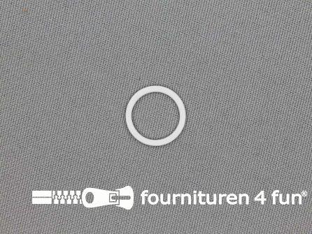 10 Stuks metalen ring 12mm wit