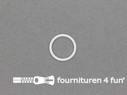 10 Stuks metalen ring 14mm wit