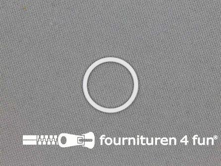 10 Stuks metalen ring 16mm wit
