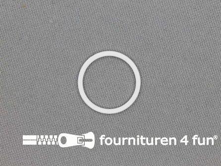 10 Stuks metalen ring 18mm wit