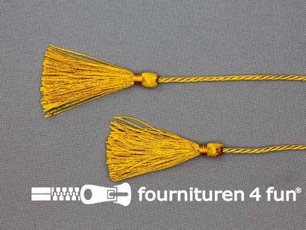 2 kwastjes 50mm met koord goud geel