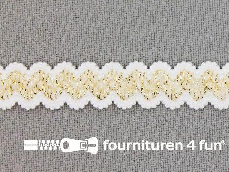 Lingerie elastiek 11mm wit - goud