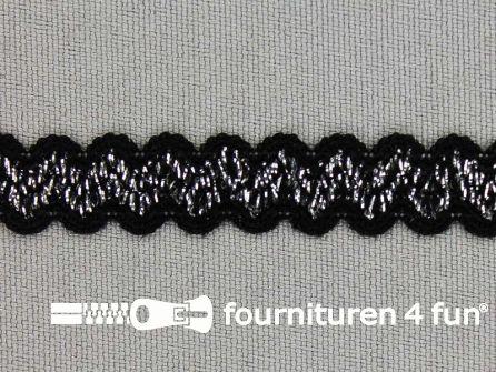 Lingerie elastiek 11mm zwart - zilver