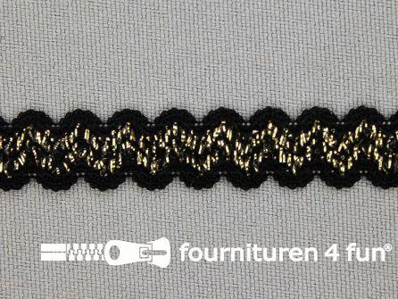 Lingerie elastiek 11mm zwart - goud