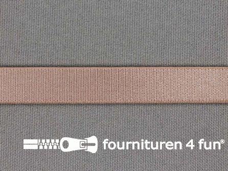 Lingerie elastiek 12mm donker beige