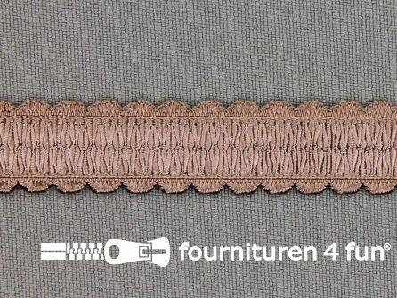 Lingerie elastiek 14mm donker beige