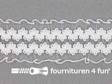 Lingerie elastiek 28mm wit