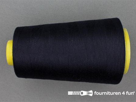 100% polyester Lockgaren 40/2 donker blauw