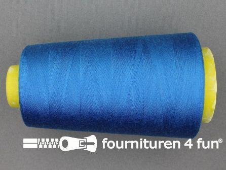 100% polyester Lockgaren 40/2 donker aqua blauw