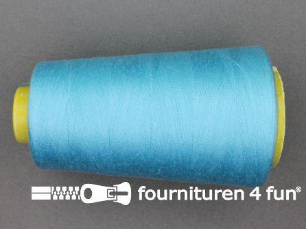 100% polyester Lockgaren 40/2 licht aqua blauw