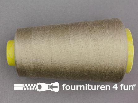 100% polyester Lockgaren 40/2 donker beige