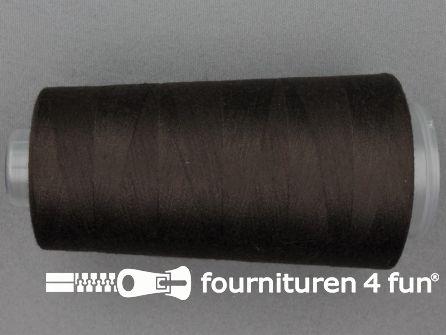 100% polyester Lockgaren 40/2 bruin