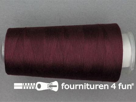 100% polyester Lockgaren 40/2 bordeaux rood
