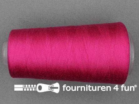 100% polyester Lockgaren 40/2 fuchsia roze
