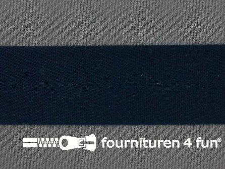 COUPON circa 50 meter Keperband 30mm heel donker blauw