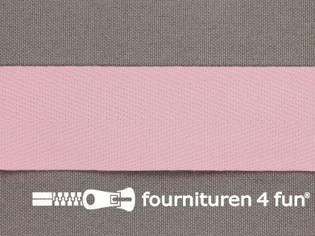 COUPON 19 meter Keperband 30mm roze