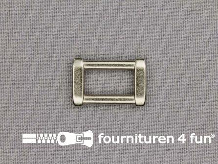 Luxe schuifpassant 16mm zilver