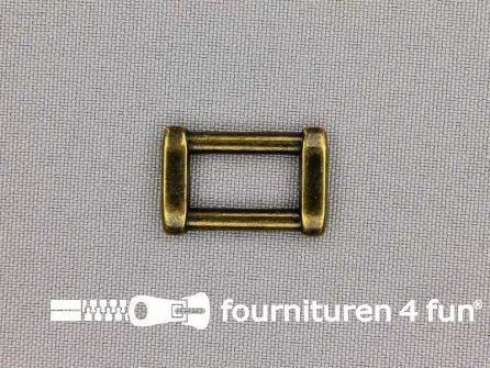 Luxe schuifpassant 16mm brons