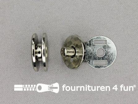 Magneet knoop 20mm - schroefbaar - zilver