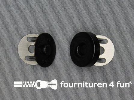 Magneet knopen 18mm buig zwart brons per stuk