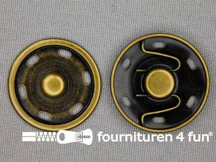 Mantel drukkers 30mm geel brons