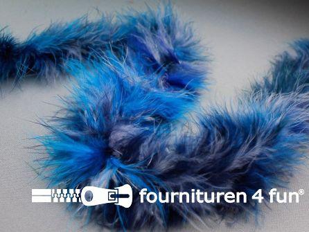 Maraboe multicolor blauw - grijs 180cm