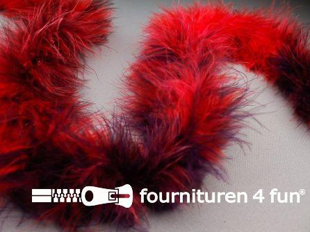 Maraboe multicolor rood - paars 180cm