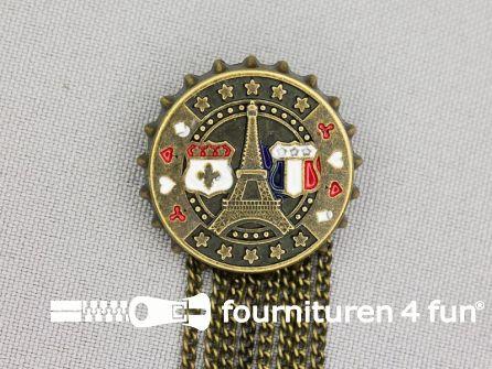 Medaille speld Ø 25mm Parijs - brons