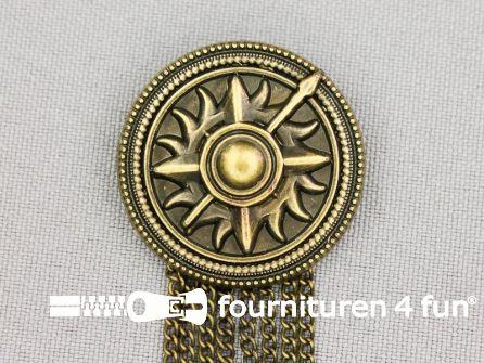 Medaille speld Ø 30mm schild - brons