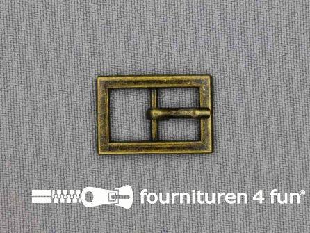 Metalen gesp 10mm brons