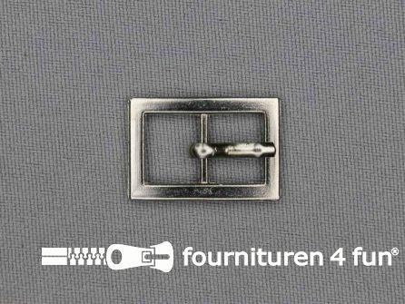 Metalen gesp 10mm zilver