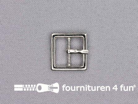 Metalen gesp 14mm vierkant zilver