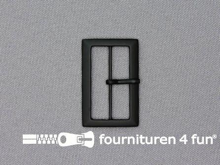 Metalen gesp 30mm mat zwart