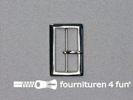 Metalen gesp 30mm zilver