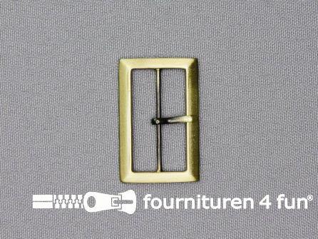 Metalen gesp 30mm brons