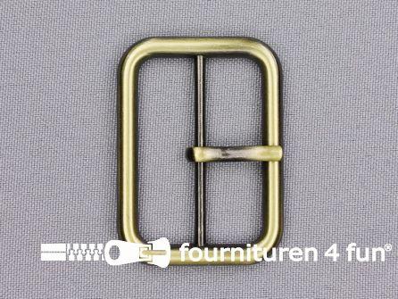 Metalen gesp 40mm brons