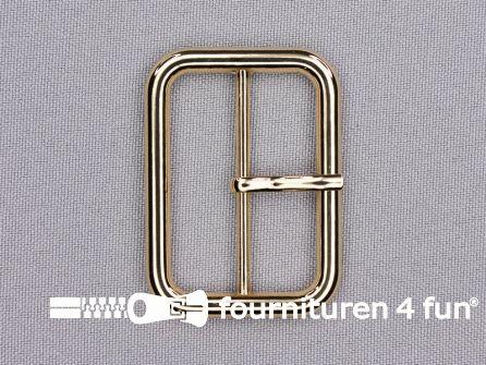 Metalen gesp 40mm goud