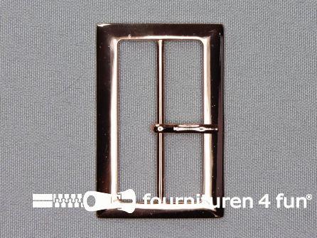 Metalen gesp 48mm koper