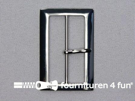Metalen gesp 48mm zilver
