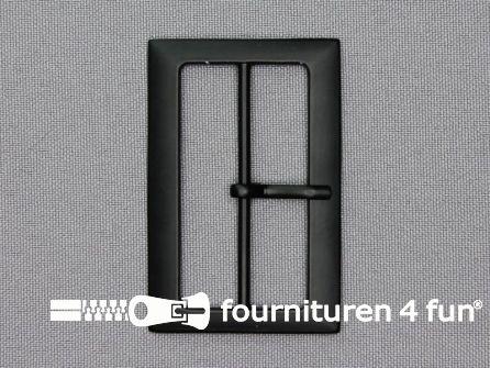 Metalen gesp 48mm mat zwart