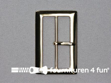 Metalen gesp 48mm goud