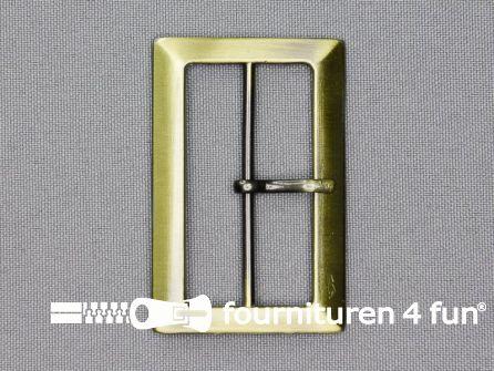 Metalen gesp 48mm brons